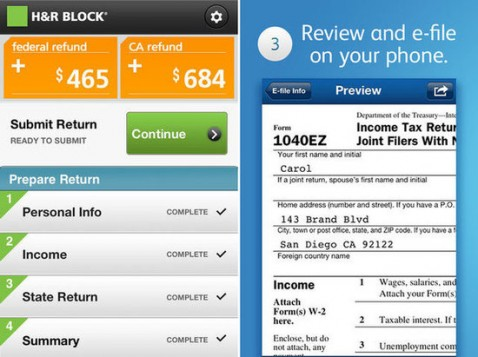 HR BLock Tax App