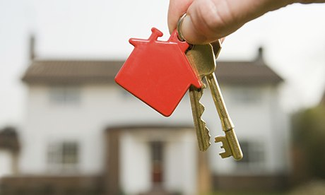 House keys with a house keyring