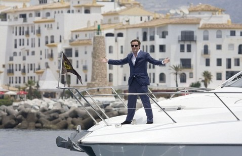 Piers Morgan filming in Marbella for his TV programme  on the rich and famous.